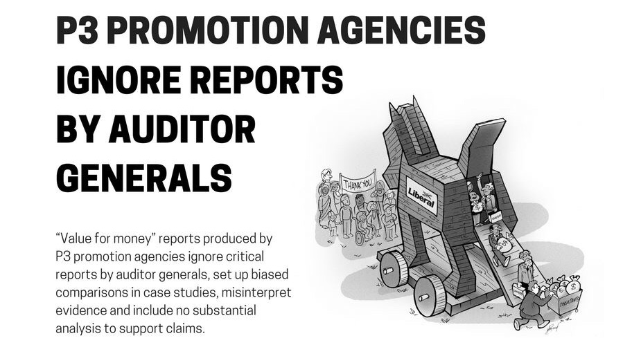 P3 promotion agencies ignore reports by auditor generals