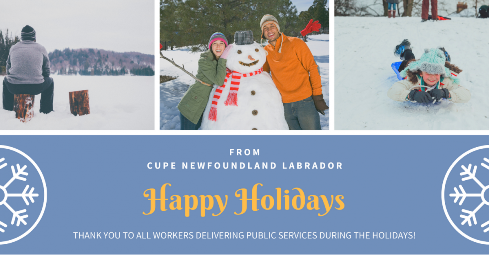 Happy Holidays from CUPE NL