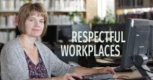 Respectful workplaces - office worker