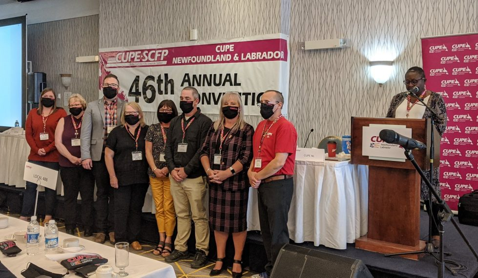 Newly elected CUPE NL Division Board being sworn in Sept 25 2020