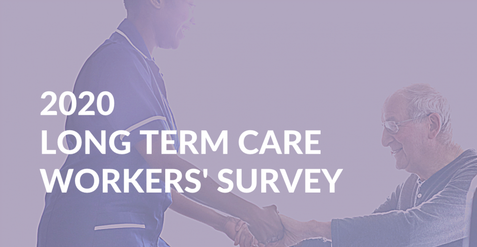 Banner: 2020 Long Term Care Workers' Survey