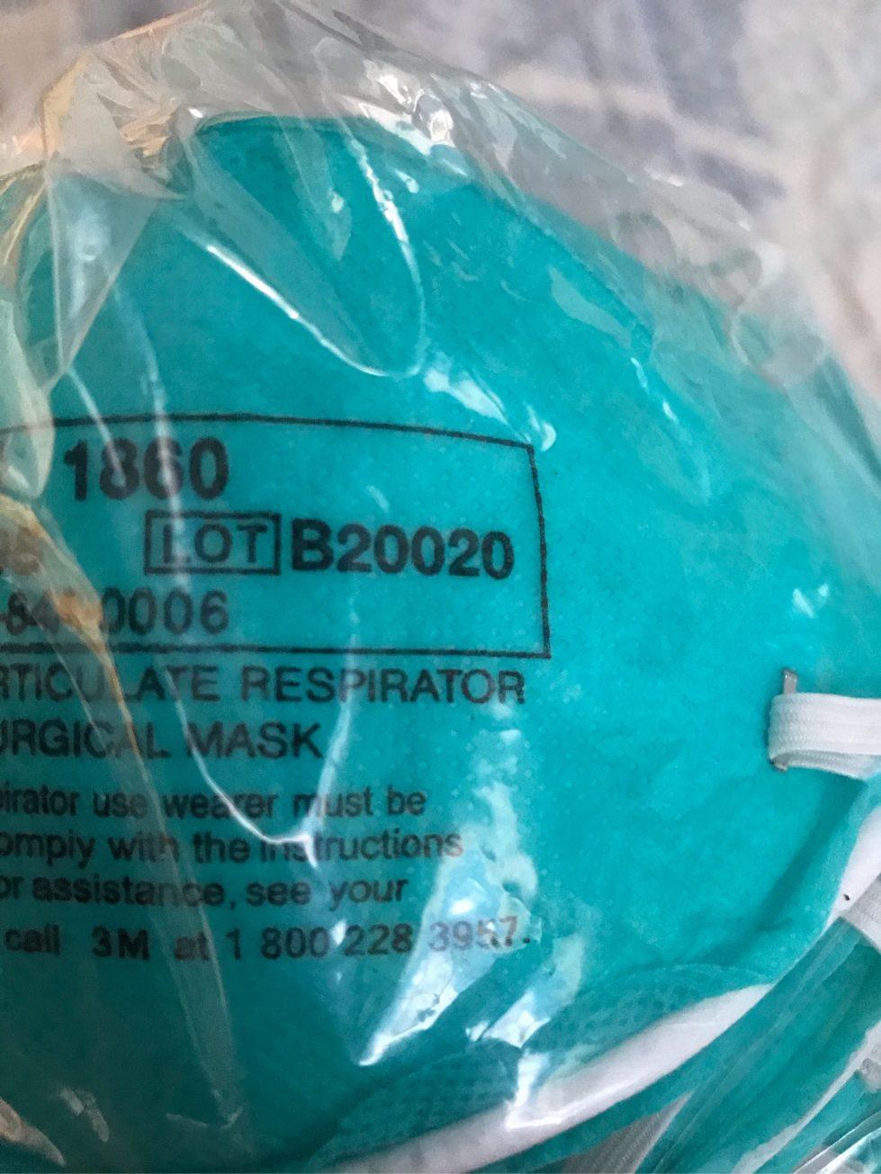 3M counterfeit mask lot B20020