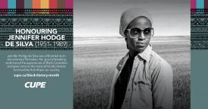 Web banner for Black History Month: Jennifer Hodge de Silva
