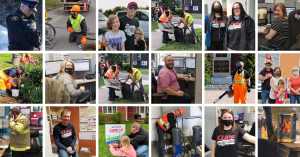 CUPE 1349 collage of photos of members at work and with families